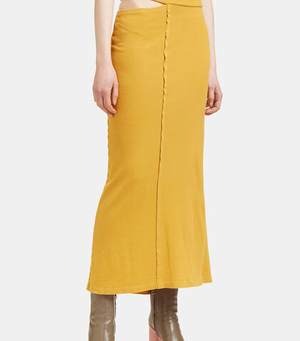 Lapped Jersey Skirt by Eckhaus Latta