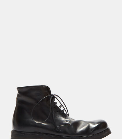 Leather Lace-up Ankle Boots by