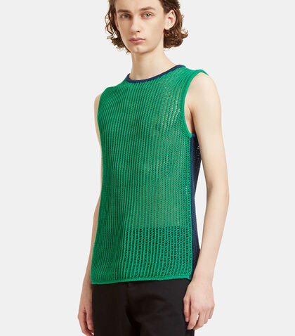 Kan Bi-Colour Mesh Knit Vest by Acne Studios