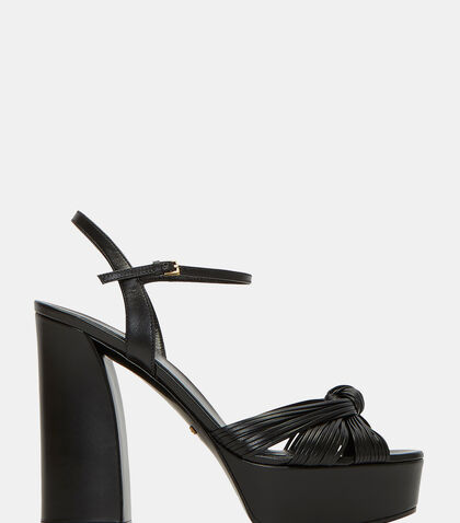 Knotted Strand Platform Sandals by Gucci