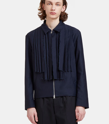 Mickey Raw Folded Pleat Jacket by Mohsin