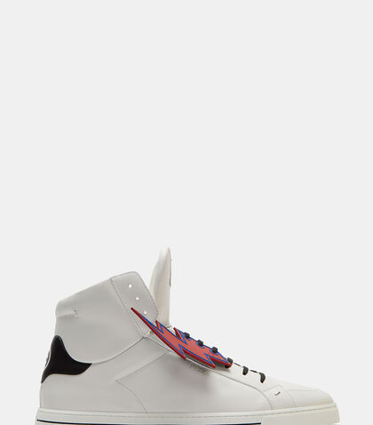 Lightning Bolt Stapled High-Top Sneakers by Fendi