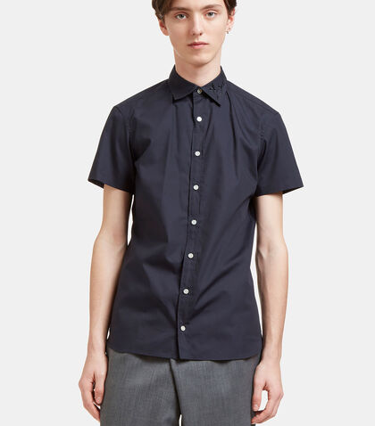 Embroidered Short Sleeved Poplin Shirt by Kolor