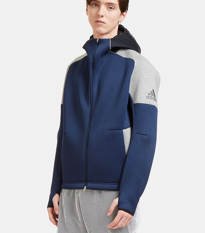 Z.N.E Panelled Neoprene Hooded Sweater by Adidas By Kolor