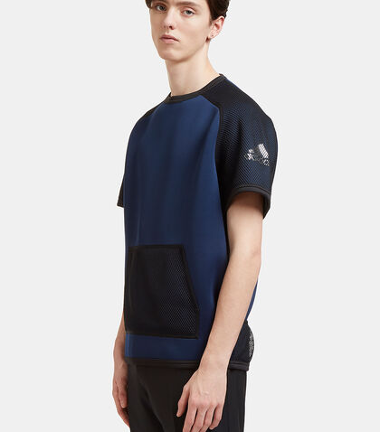 Oversized Mesh Panelled Neoprene T-Shirt by Adidas By Kolor