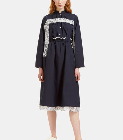 Oversized Lace Detailed Overall Dress by Renli Su
