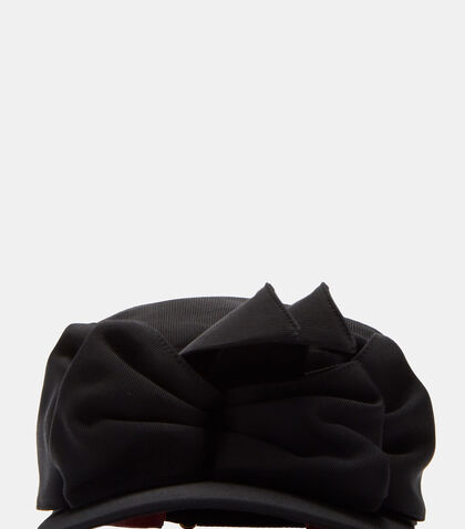 Clara Ruffled Double Bow Flat Cap by Gucci