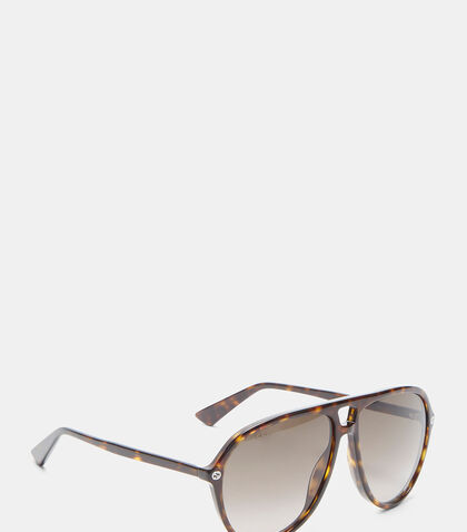 Tortoiseshell Aviator GG0119S Sunglasses by Gucci