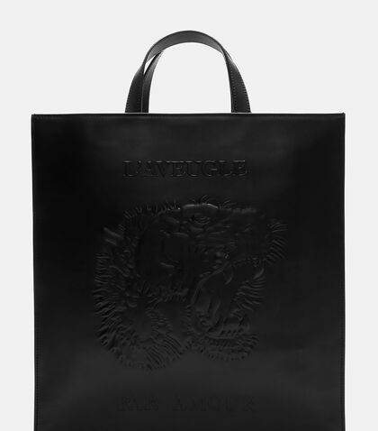 Bestiary Tiger Embossed Tote Bag by Gucci