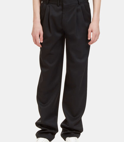 Triple Tuck Pleat Tailored Pants by Saint Laurent