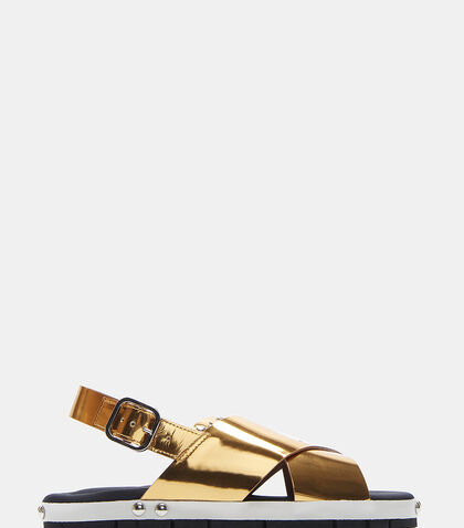 Fussbett Slingback Leather Sandals by Marni
