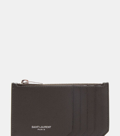 Paris 5 Fragments Grain de Poudre Zip Wallet by Saint Laurent