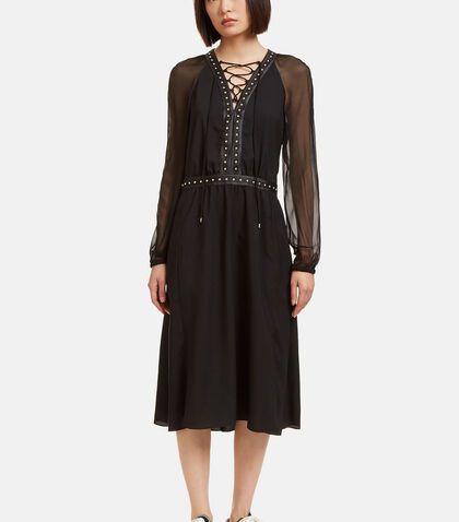 Milow Stud Trimmed Sheer Sleeved Dress by Altuzarra
