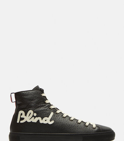 Blind for Love Embroidered High-Top Sneakers by Gucci