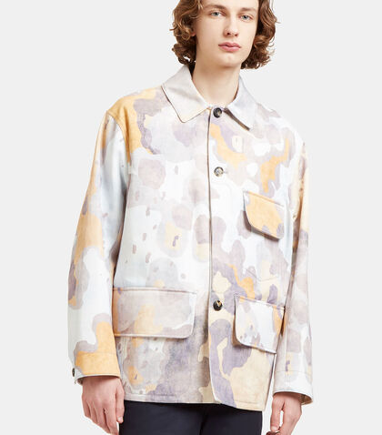 Mirror Oversized Faded Print Jacket by Acne Studios