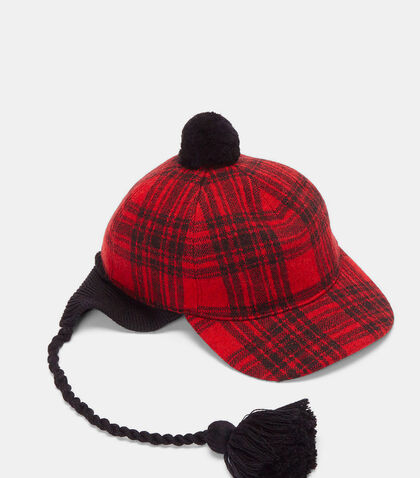 Peruviano Tartan Ear Flap Tasselled Cap by Gucci