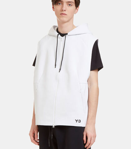 Sport Z Oversized Zip-Up Hooded Sleeveless Sweater by Y-3