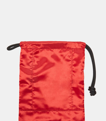 Knotted Cord Satin Textile Pouch by Ribeyron