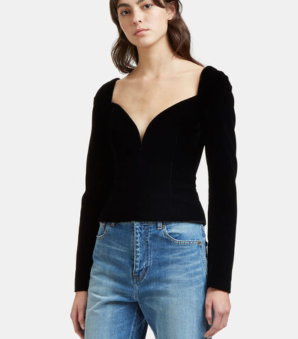 Sweetheart Velvet Top by Saint Laurent