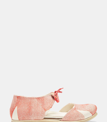 Square Printed Canvas Sandals by Marvielab