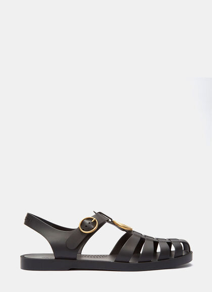 Buy Tiger Head Rubber Buckle Sandals by Gucci men clothes online