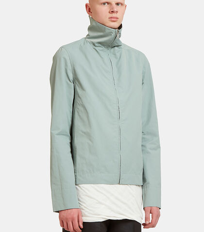 Zip-Up High Stand Collared Jacket by Rick Owens Drkshdw