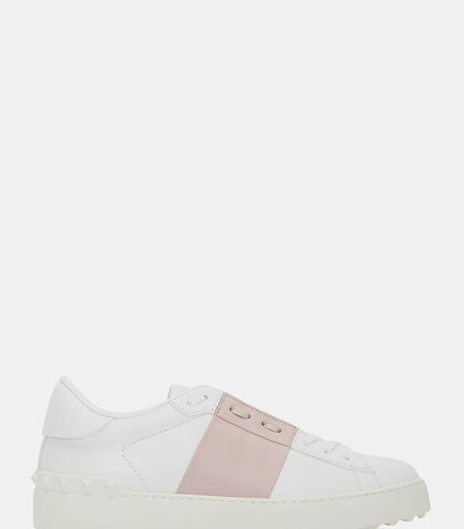 lncc female contrast panel stud sneakers