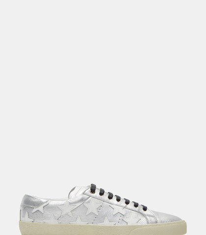 Star Leather Sneakers by Saint Laurent