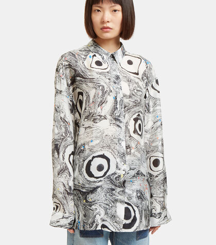 Bella Marbled Eyeball Print Shirt by Acne Studios