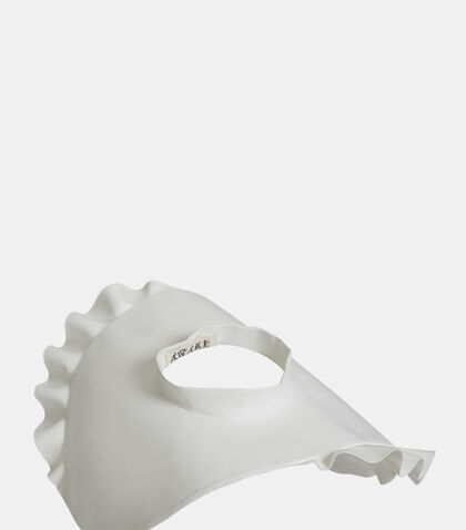 Meduze Rubberised Frilled Hat by A.W.A.K.E