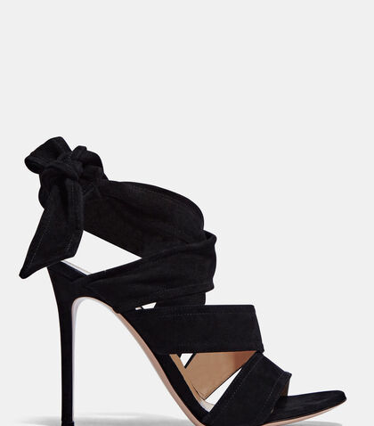 Suede Wrap Heeled Sandals by Gianvito Rossi