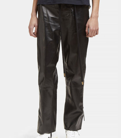 High-Waisted Leather Zipped Pants by Marni