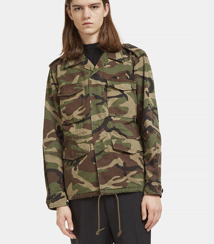Love Force Camouflage Military Jacket by Saint Laurent