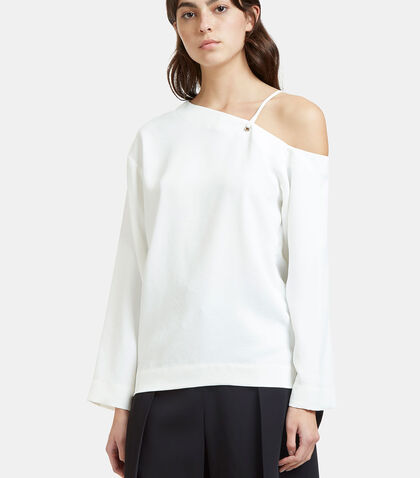 Oversized Dropped Sleeve Laced Top by Nomia