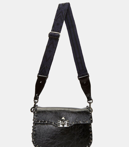 Medium Guitar Rockstud Rolling Crossbody Bag by Valentino