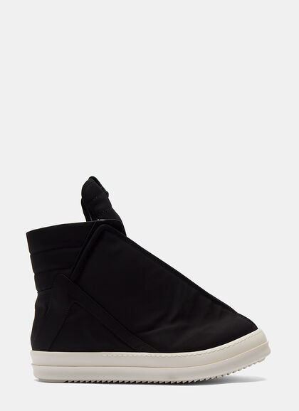 Buy High-Top Shielded Sneakers by Rick Owens Drkshdw men clothes online