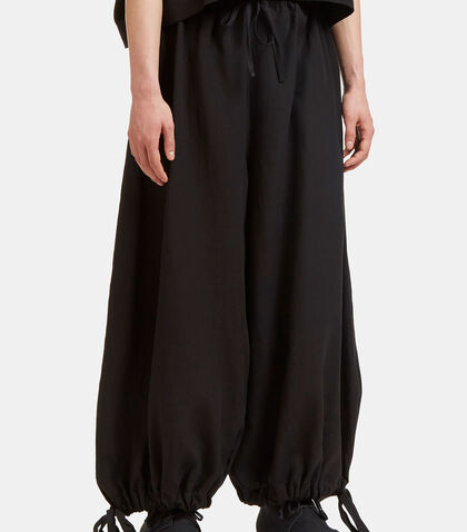 Oversized Cropped Drawstring Pants by Marvielab