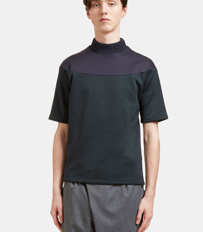 Contrast Panel Thick Jersey T-Shirt by Kolor