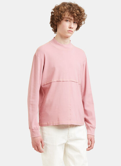 Buy Lapped Stitched Roll Neck Sweater by Eckhaus Latta men clothes online