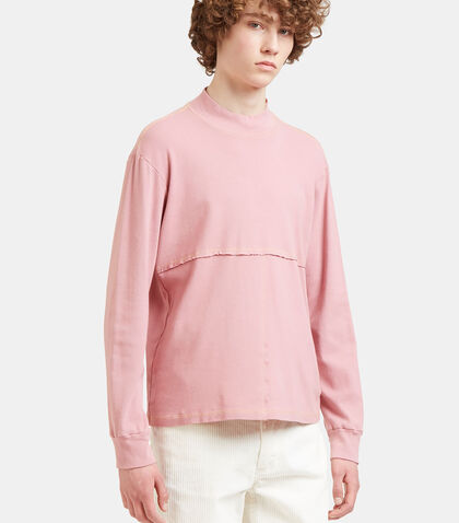 Lapped Stitched Roll Neck Sweater by Eckhaus Latta
