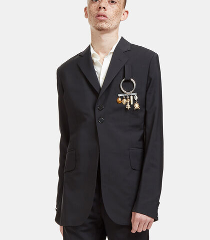 Alfred Charm Plaque Blazer Jacket by Wales Bonner