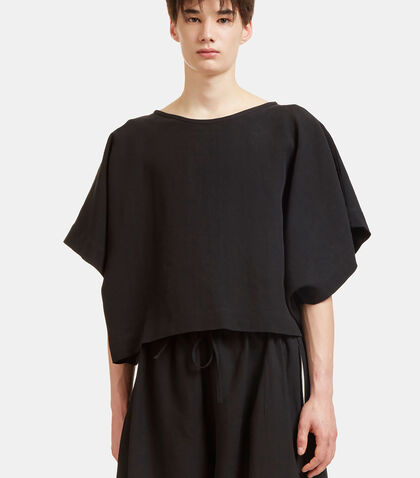 Oversized Flat Cropped T-Shirt by Marvielab