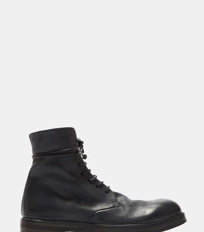 Zucca Zeppa Leather Combat Boots by Marsèll