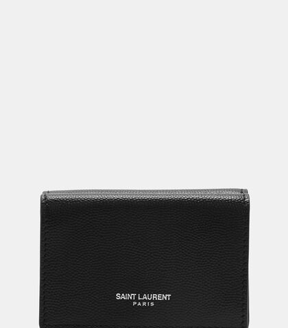 Paris Petite Grain de Poudre Wallet by Saint Laurent