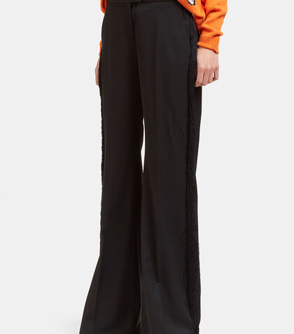 Fringed Wide Flared Pants by Stella McCartney