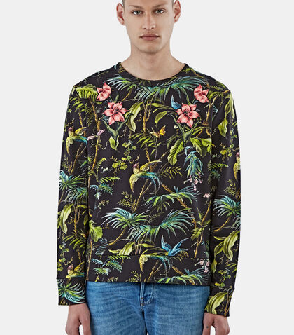 Tropical Print Jersey Sweater by Gucci