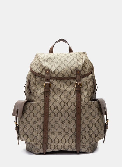 Buy Neo Vintage GG Supreme Print Backpack by Gucci men clothes online