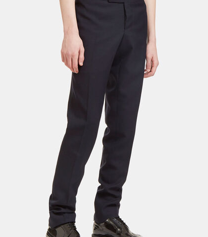Striped Grosgrain Tab Tailored Pants by Thom Browne
