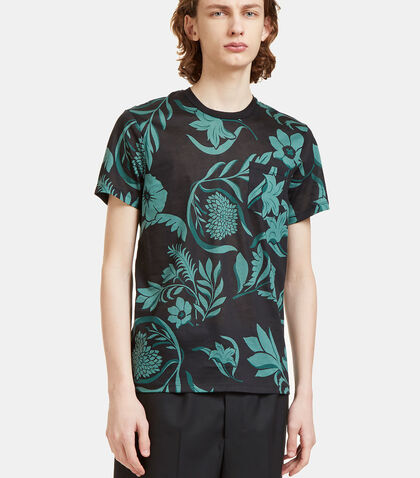 Flower Print Crew Neck T-Shirt by Ami