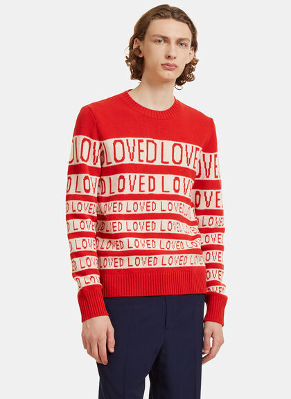 Buy Loved Jacquard Wool Sweater by Gucci men clothes online